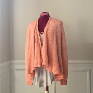 Women's open front drape cardigan